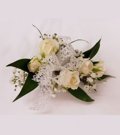 Corsage - White Spray Roses