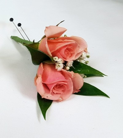 Boutonniere - Double Spray Rose
