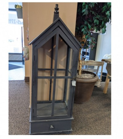 Large wooden lantern holder